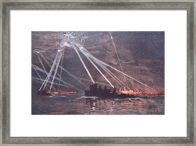 Blood And Iron An Air Raid Framed Print by Donald Maxwell