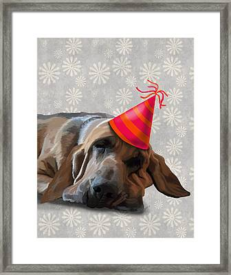Blood Hound After The Party Framed Print by Kelly McLaughlan