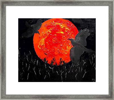 Blood Moon 01 Framed Print by Andy Lawless
