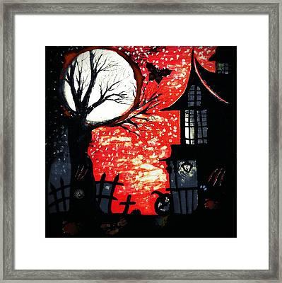 Blood Moon Framed Print by Denisse Del Mar Guevara
