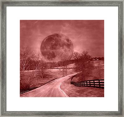 Blood Moon One Of Two Framed Print by Betsy C Knapp