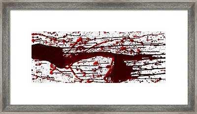 Blood Spatter Series Framed Print by Holly Anderson