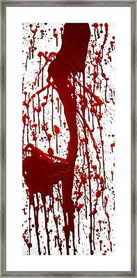 Blood Splatter II Framed Print by Holly Anderson