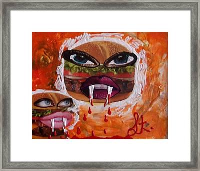 Bloody Meat Framed Print by Lisa Piper Menkin Stegeman