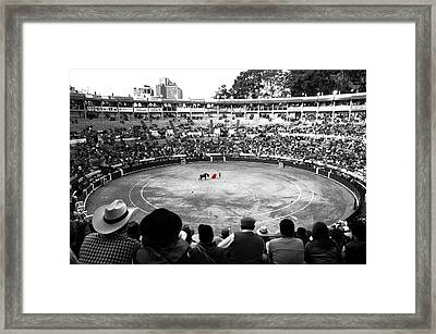 Bloody Red Framed Print by Laura Jimenez