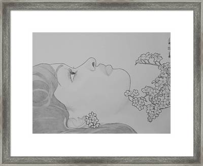 Blooming Girl For Get Me Not  2 Framed Print by Aaron El-Amin