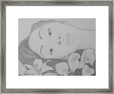 Blooming Girl Lily   Framed Print by Aaron El-Amin