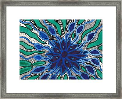 Blooming In Blue Framed Print by Barbara St Jean
