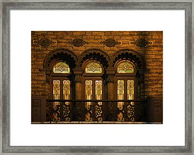 Bloomingdale's At Home In Chicago's Medinah Temple Framed Print by Christine Till