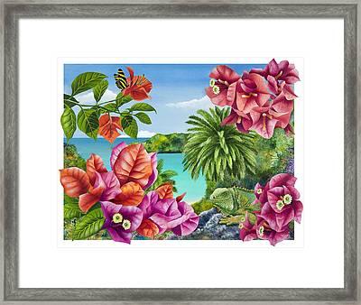 Blossom Bower Framed Print by Carolyn Steele