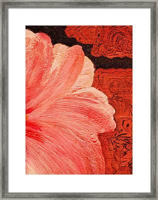 Blossom Emerging Framed Print by Anne-Elizabeth Whiteway