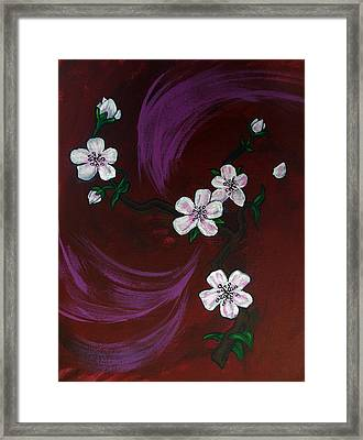 Blossoms Framed Print by Nyxie Clark