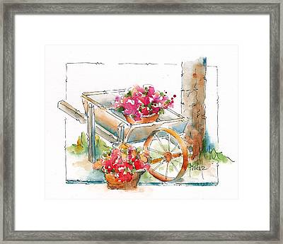 Blossoms To Go Framed Print by Pat Katz