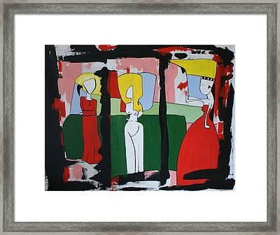 Blottet Framed Print by Sanne Rosenmay