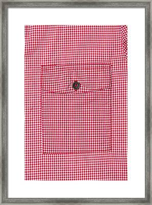 Blouse Pocket Framed Print by Tom Gowanlock