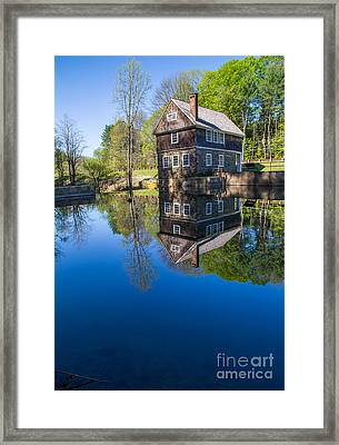 Blow Me Down Mill Cornish New Hampshire Framed Print by Edward Fielding