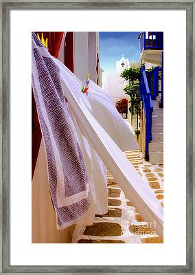 Blowing In The Wind Framed Print by Madeline Ellis