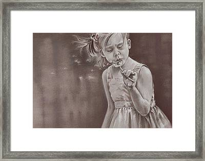 Blowing In The Wind Framed Print by Natasha Denger