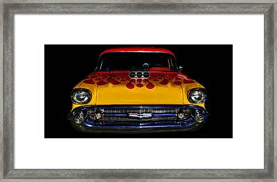 Blown 57 Chevy Framed Print by Ken Smith