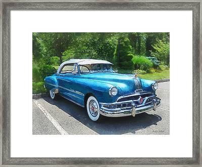 Blue 1951 Pontiac Framed Print by Susan Savad