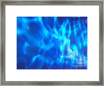 Blue Abstract 2 Framed Print by Tony Cordoza