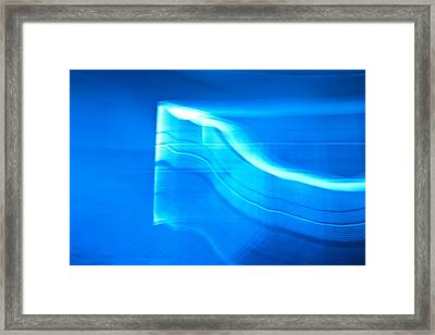 Blue Abstract 3 Framed Print by Mark Weaver