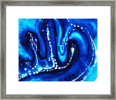 Blue Abstract Art - Big Blue - By Sharon Cummings Framed Print by Sharon Cummings