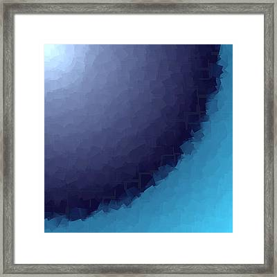 Blue Abstract Background Framed Print by Valentino Visentini