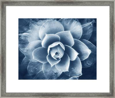 Blue Abstraction Framed Print by Georgiana Romanovna