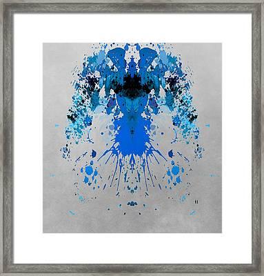 Blue Alien Framed Print by Dan Sproul