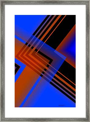 Blue And Brown Combination Framed Print by Mario Perez