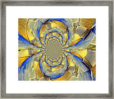 Blue And Gold Framed Print by Marty Koch