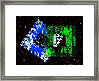 Blue And Green Combination Framed Print by Mario Perez