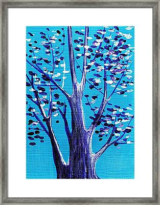 Blue And White Framed Print by Anastasiya Malakhova
