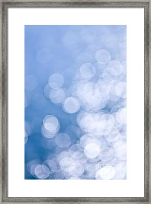 Blue And White  Framed Print by Elena Elisseeva