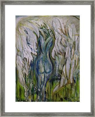 Blue Angel Framed Print by Karen Lillard