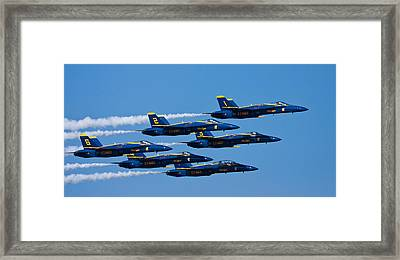Blue Angels Framed Print by Adam Romanowicz