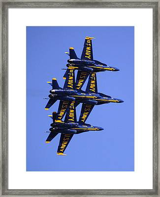 Blue Angels II Framed Print by Bill Gallagher