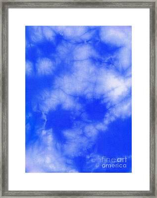 Blue Batik Pattern  Framed Print by Kerstin Ivarsson