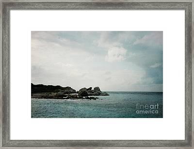 Blue Bay Beach Framed Print by Kim Fearheiley