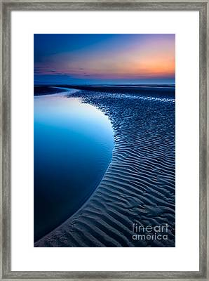Blue Beach  Framed Print by Adrian Evans