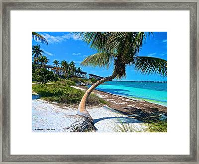 Blue Beach Day Framed Print by Kathleen J Daniel