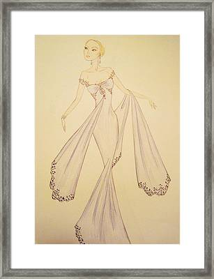 Blue Belle Framed Print by Christine Corretti