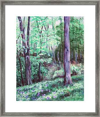 Blue Bells In Bloom Framed Print by Janet Felts