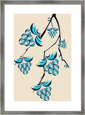 Blue Berries Branch Framed Print by Anastasiya Malakhova