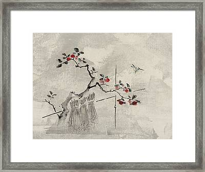 Blue Bird Framed Print by Aged Pixel