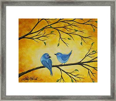 Blue Birds Framed Print by Molly Roberts
