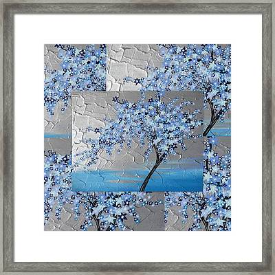 Blue Blossom Tree Framed Print by Cathy Jacobs