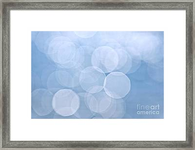 Blue Bokeh Background Framed Print by Elena Elisseeva
