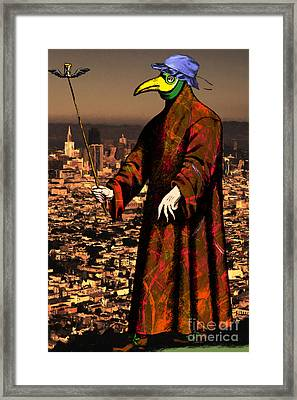 Blue Bonnet Plague Doctor Of San Francisco 20140306 Framed Print by Wingsdomain Art and Photography